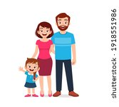 cute little girl with mom and... | Shutterstock .eps vector #1918551986
