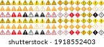 warning sign icon vector...   Shutterstock .eps vector #1918552403