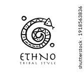 ethnic snake logo for your... | Shutterstock .eps vector #1918563836