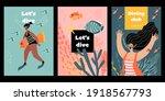 set of vector flyers or banners ...   Shutterstock .eps vector #1918567793