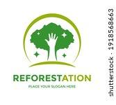 reforestation vector logo... | Shutterstock .eps vector #1918568663