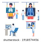 fluorography lungs checkup...   Shutterstock .eps vector #1918574456