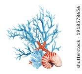 beautiful underwater... | Shutterstock . vector #1918578656