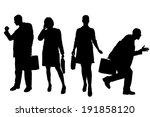 vector silhouette of business... | Shutterstock .eps vector #191858120