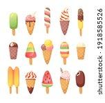 hand drawn ice cream vector... | Shutterstock .eps vector #1918585526