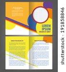 vector empty bi fold brochure... | Shutterstock .eps vector #191858846