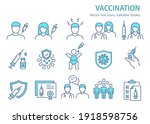 vaccine icons  such as syringe  ... | Shutterstock .eps vector #1918598756