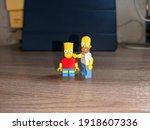 Lego Figures Homer And Bart...