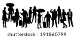 vector silhouette of business... | Shutterstock .eps vector #191860799