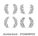 hand drawn floral wreath and...   Shutterstock .eps vector #1918608533
