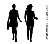vector silhouette of... | Shutterstock .eps vector #191863214