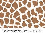 abstract modern giraffe... | Shutterstock .eps vector #1918641206