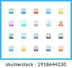 extension name linear icons and ... | Shutterstock .eps vector #1918644230