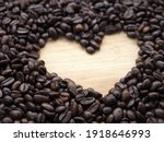 Heart Shape Made From Coffee...