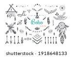 boho mystic collection  arrows  ...   Shutterstock .eps vector #1918648133