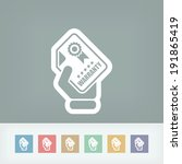 warranty icon | Shutterstock .eps vector #191865419