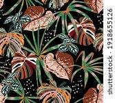 stylish dark seamless pattern... | Shutterstock .eps vector #1918655126