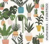 trendy vector prints plants in... | Shutterstock .eps vector #1918659020