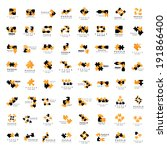 puzzle icons set   isolated on... | Shutterstock .eps vector #191866400