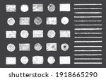 round and rectangular pencil... | Shutterstock .eps vector #1918665290
