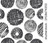 hand drawn pencil scribbles... | Shutterstock .eps vector #1918674353