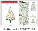 Christmas Gift Bag For Print...