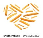 french fries in the shape of a... | Shutterstock . vector #1918682369