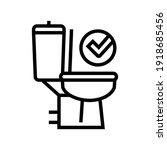 good bowel movement  restroom... | Shutterstock .eps vector #1918685456