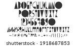 creative alphabet uppercase ... | Shutterstock .eps vector #1918687853