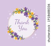 Flower Frame With Purple And...
