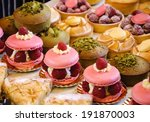 french pastries on display on a ... | Shutterstock . vector #191870003