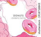 stylized pink donuts on an... | Shutterstock .eps vector #1918718843