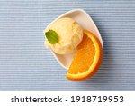 Orange Ice Cream As An Orange...