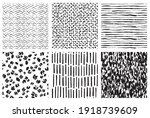 hand drawn ink pattern and... | Shutterstock .eps vector #1918739609