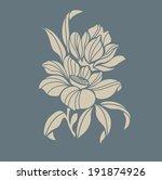 flower motif for design | Shutterstock .eps vector #191874926