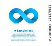 infinity blue icon sign ...   Shutterstock .eps vector #191875853
