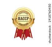haccp certified site sign  ... | Shutterstock .eps vector #1918760450