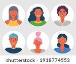 material cartoon avatars ... | Shutterstock .eps vector #1918774553