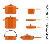 pans and pots  pan for soup pot ... | Shutterstock .eps vector #191878649