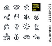 business solution vector icons...   Shutterstock .eps vector #1918804076
