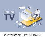 isometric vector illustration... | Shutterstock .eps vector #1918815383