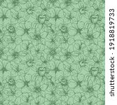 natural floral pattern linear... | Shutterstock .eps vector #1918819733