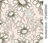 daisy seamless vector pattern... | Shutterstock .eps vector #191882060