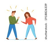 angry  arguing couple of people ... | Shutterstock .eps vector #1918826339