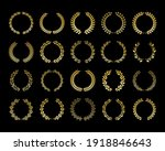 gold laurel wreath set for logo ...   Shutterstock .eps vector #1918846643