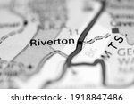 Riverton. West Virginia. USA on a geography map