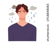 depressed and sad man. it is...   Shutterstock .eps vector #1918848083