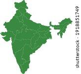 vector illustration of india map | Shutterstock .eps vector #1918851749
