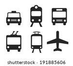 city transportation pictograms  ... | Shutterstock .eps vector #191885606