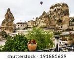 goreme hotel terrace   balloons ... | Shutterstock . vector #191885639